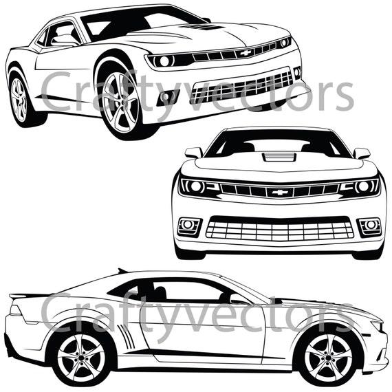 Chevrolet Camaro 2015 Vector File
