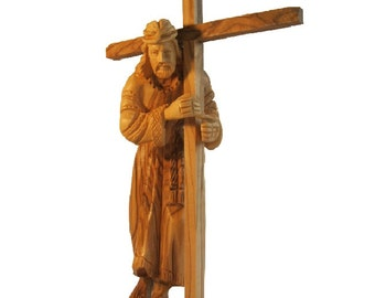 Jesus Olive Wood Figure Statue - 6 inch Height