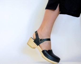 Handmade Clogs / Swedish Clogs / Sandals for Women / Leather Sandals / Sandal Clogs / Vegetable Tanned / Womens Clogs / Sandgrens / Milan