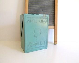 Vintage Green Kay White Tin 1930's White King Soap Sales Promotion Kay White's Kit of Home Information