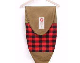 Surfboard Bag in Red & Tan Flannel- Surf Socks Make Great Surfer Gifts