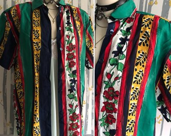 Vintage Floral Shirt/ Blouse