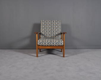 Mid Century Modern Teak Lounge Chair,1970s