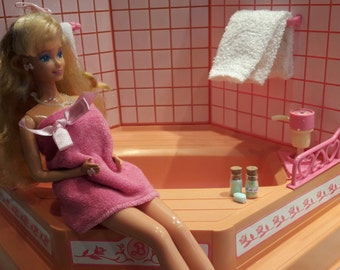 bathset 1/6 diorama accessory  for Barbie dolls, Blythes, Fashion Royalty, Pullip or similar sizes