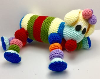 CROCHET PUPPY SOFTEE Toy// puppy//crochet//child's toy//stuffed toy