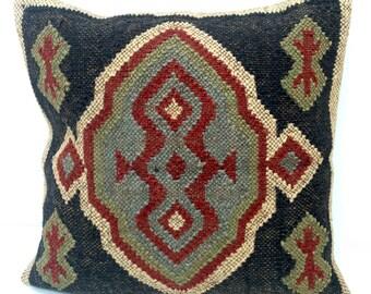 """Kilim Cushion Cover 18 x 18""""  (45 x 45cm)"""