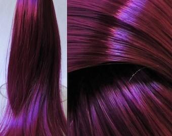 BRILLIANT BOYSENBERRY High Sheen Nylon Doll Hair for Custom OOAK/Rerooting