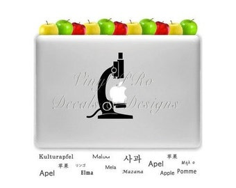 Microscope Biology Microscopy Analytical Lab Microscope Biologist Magnification Specimen Slide Decal for Apple Macbook