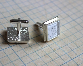 Spider web cufflinks