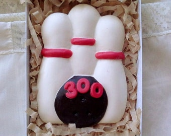 Large Chocolate Bowling Ball and Pins Favor/Gift