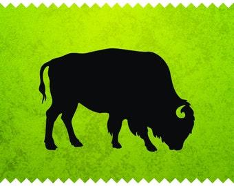 Bizon - Buffalo -  svg - ai - dxf - cdr - pat - jpeg - png - pdf - wmf - docx - Printable Clipart - Iron on Transfer -  Laser Engraving