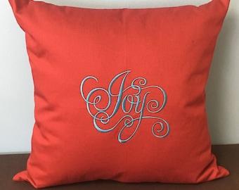 Joy Embroidery Pillow