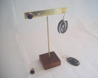 GOLD COLOR STUD Earrings Display for 2 pairs  #JewelryDisplays #GoldEarringDisplay #GoldJewelryDisplays #StudEarringHolder