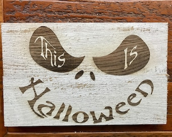 This is Halloween on Pallet wood