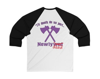 Newlyweds Homage To Haunted Mansion At Disney Baseball Tee