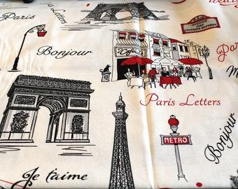 Coupon fabric upholstery Paris 70 x 50 cm