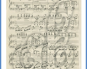 Digital Image of Vintage Sheet Music. Perfect for Backgrounds!