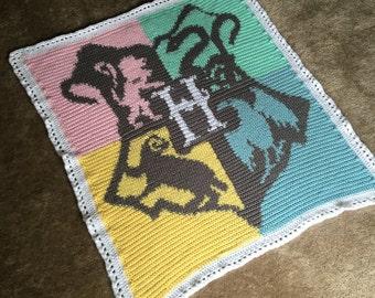 Harry Potter, Baby, blanket, handmade, crochet