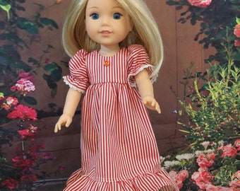Cool Cotton Summer Nightie for a 14 1/2 inch doll such as Wellie Wishers