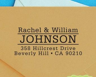 CUSTOM ADDRESS STAMP, personalized pre inked address stamp, pre inked custom address stamp, return address stamp and proof - b5-62