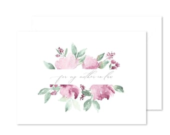 For My Mother-In-Law Note Card | Blank Card | Mother's Day Card