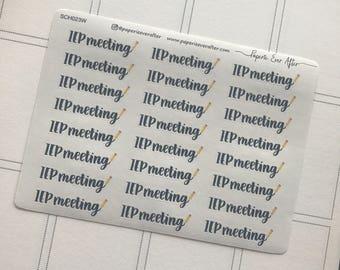 IEP meeting planner stickers | typography planner stickers | SCH023