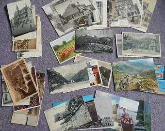 Lot de 50 cartes postales pays européens