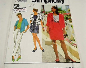 Simplicity Misses' Pants Or Shorts, Skirt, and Unlined Jacket Pattern 7339 Size  PT, S, M, L The Two Hour Express Collection