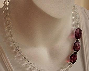 Asymmetrical quartz necklace