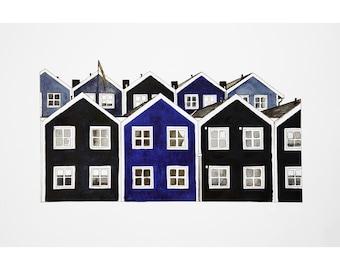 Shows homes blue Sweden