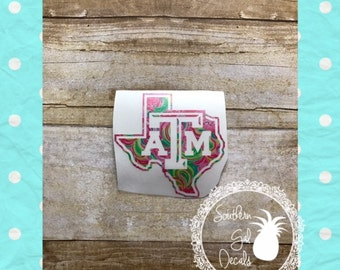 Texas A&M Lilly Inspired Vinyl Decal