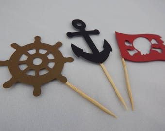Pirate cupcake topper