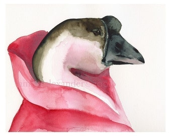 The Royal Taffeta- Goose art, pink, girls room, children