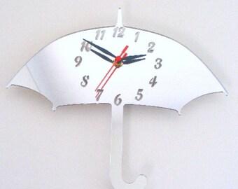Umbrella Clock Mirror - 2 Sizes Available