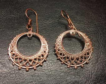 Rose Gold Fish Hook Earrings