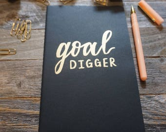 Goal Digger Journal/ Girl Boss Gift/ Boss Babe Gift/ Cute Notebook/ Goal Digger Notebook