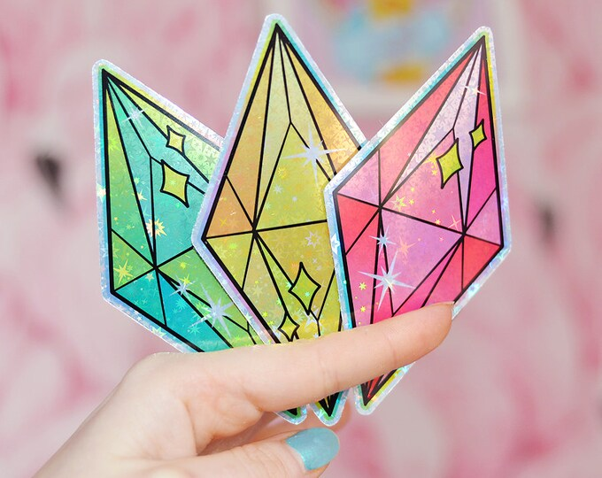Mood Gems, Choice of Colour Holographic Sticker