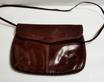 Burgundy leather shoulder bag - Leather shoulder bag - Genuine leather shoulder bag - Burgundy purse - Minimalist leather purse