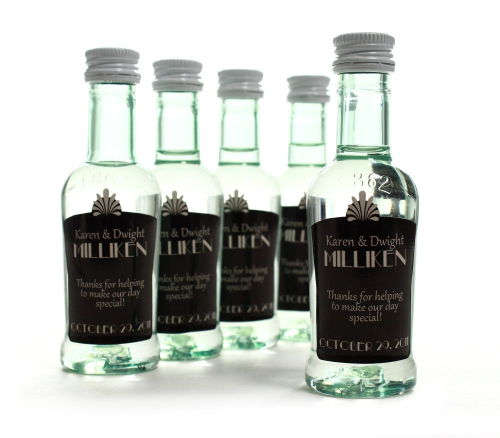 Wedding Favor Bottles - Liquor bottle labels template