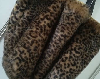 Large tote bag imitation fur - OOAK