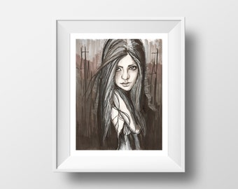 Shadow - illustration - giclee print