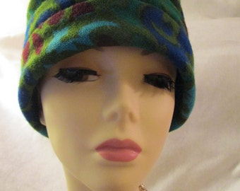 1960's Dachettes Designed by LILLY DACHE' Green Floral Turban for I. Magnin & Co.