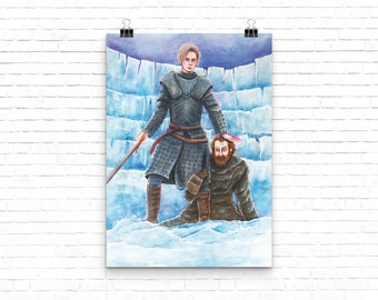 Brienne and Tormund Game of Thrones Painting Poster Print