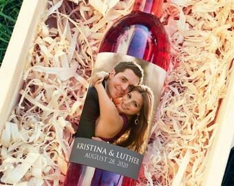Wedding Wine Labels, Wedding Wine Bottle Labels, Photo Wine Label, Wedding Favor Wine, Photo Wine Label Birthday, Photo Wine Bottle Label