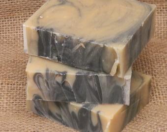 Black Amber Musk Goats Milk Soap