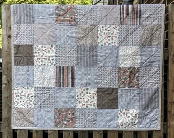 Quilt--Patchwork quilt--Handmade Quilt--cotton--Baby Quilt--Baby Patchwork