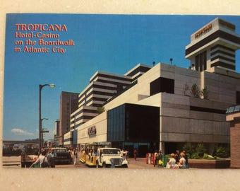 Vintage Postcard Tropicana Casino Atlantic City NJ Boardwalk