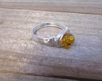 November Birthstone Ring | Crystal Ring | Swarovski Crystal Ring | Childs Ring | Pinkie Ring | Pinky Ring Woman | Kids Ring