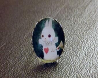Fancy rabbit fantasy magic ring by Mademoiselle SoCat