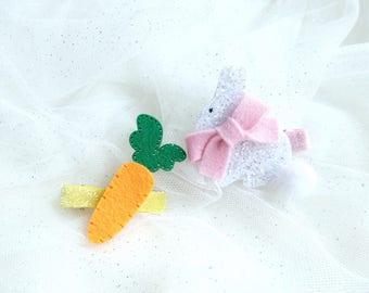 Set of Rabbit Carrot, Baby headbands